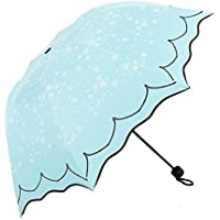 Zhhyltt 折り畳み傘 レディース umbrella アンブレラ ドット柄 超軽量 Folding Parasol Umbrella Sunblock UV(Ultraviolet) Block Protection