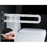 BSNOWF 老人安全トイレ浴室座って立ち上がるトイレ折りたたみ手すり手すり浴室 ( 色 : 白 )