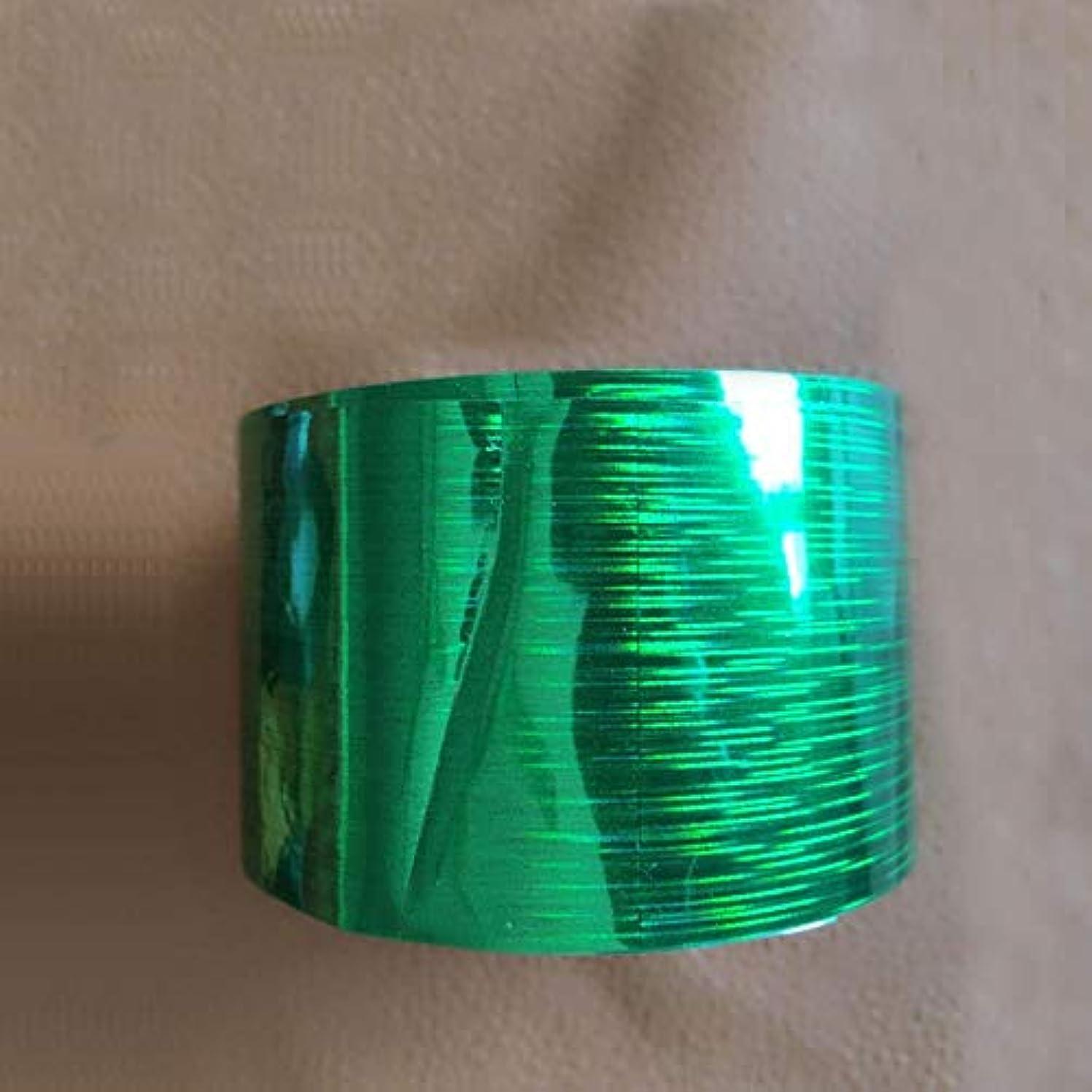 アジャギャラリーアクティビティSUKTI&XIAO ネイルステッカー 1ロール120M * 4CmホログラフィックネイルフォイルレインボートランスファーフォイルステッカーフィンガーラップネイルアートDiy接着剤マニキュア美容デカール、グリーン