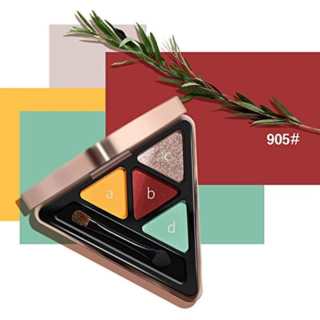 光電不健康無限大Symboat 三角 4色アイシャドウ 化粧パレット キット頬紅 旅行 携帯便利 使用簡単 自然立体 華やかな光沢感 落ちにくい 艶メイク 晴らしい発色 明るい目効果 化粧パレット