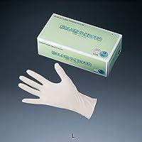 ダンロップ 粉なし天然ゴム 極うす手袋 (100枚入)L 全長23cm