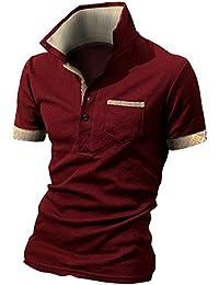 3531576ab6bb1 BUZZ WEAR [バズ ウェア] メンズ ポロシャツ poloシャツ 半袖 チェック スキッパー スポーツ ゴルフ ゴルフ