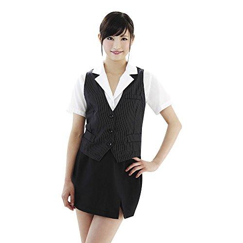 BeWith OLファッション4 ピンストライプ ベスト付O...