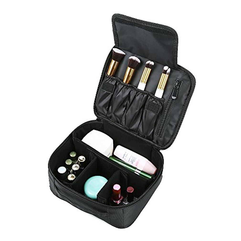 略奪比率中でOGORI メイクボックス メイクポーチ 化粧ポーチ 大容量 バニティポーチ 化粧品 ブラシ 小物用収納ポーチ 旅行 携帯用 ティッシュポーチ (ブラック) (001)