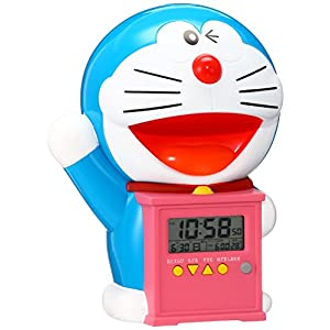 セイコー クロック 目覚まし時計 ドラえもん キャラクター型 おしゃべり アラーム デジタル 温度 表示 JF374A SEIKO