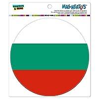 ブルガリア国立国旗 - サークル MAG-格好いい'S(TM)カー/冷蔵庫マグネット