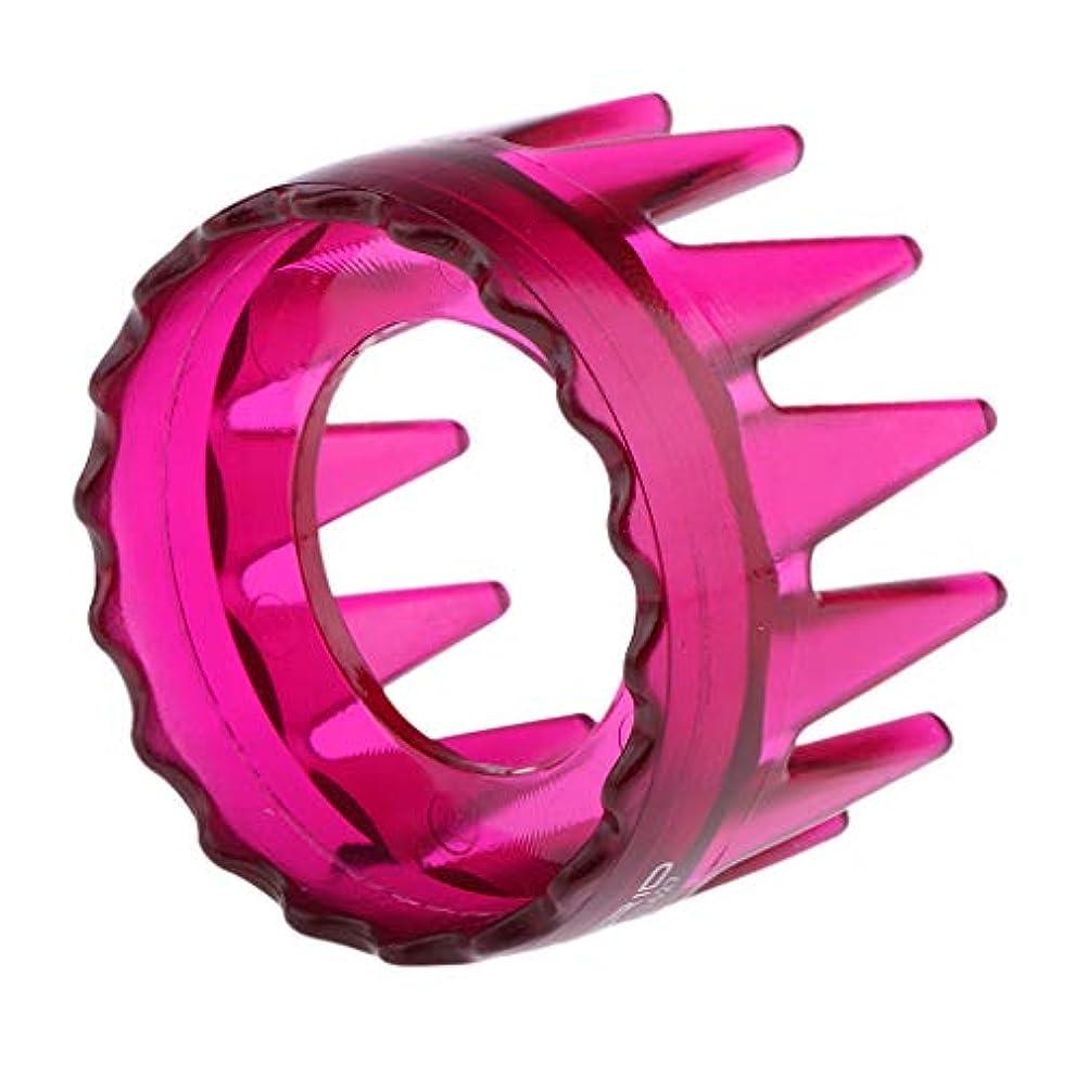 率直な頑丈引き出すToygogo ヘアブラシ ヘアコーム シャンプーブラシ 洗髪櫛 頭皮マッサージ プラスチック製 全4色 - ローズレッド