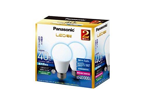 パナソニック LED電球 口金直径26mm 電球40W形相当 昼光色相当(4.4W) 一般電球・広配光タイプ 2個入 密閉形器具対応 LDA4DGK40ESW2T