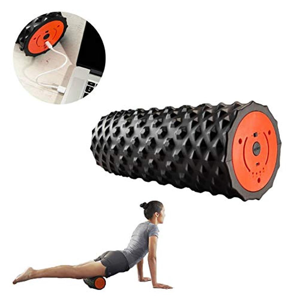 教え独裁呪いフォームローラー 電気適性のマッサージャーは運動後の筋肉深いティッシュの制動機ポイントの処置のために再充電可能です