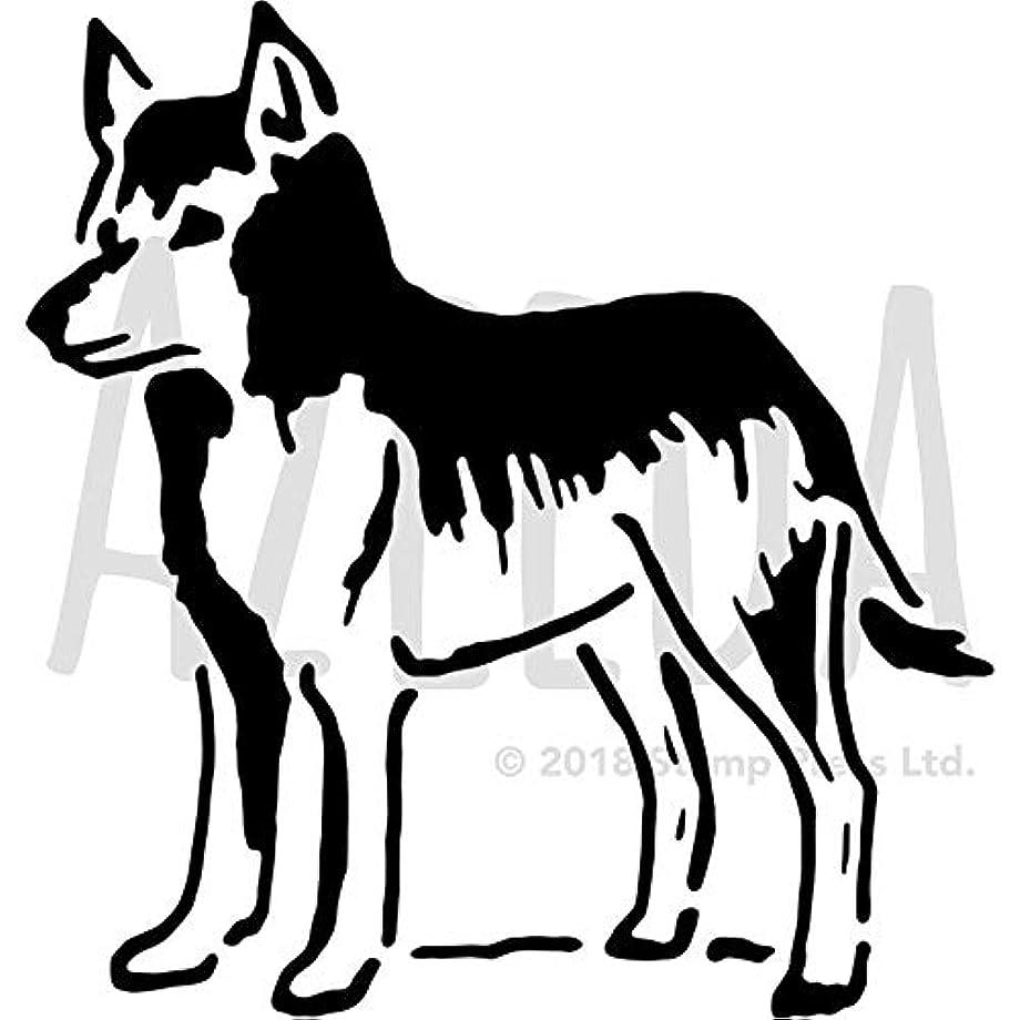 幸運な勧告拍手するA3 'Wolf' ウォールステンシル/テンプレート (WS00012777)