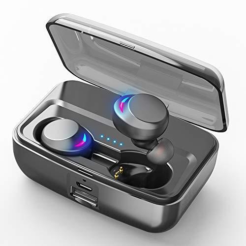 2019年最新IPX8級完全防水 90時間連続駆動  bluetooth5.0イヤホン CVC 8.0ノイズキャンセリングaacオーディオ対応ランニングイヤホン bluetooth イヤホン 完全ワイヤレス bluetoothイヤホン 片耳/両耳通話 HiFi高音質 重低音 左右分離型 ワイヤレス イヤホン ブルートゥースイヤホン 自動ペアリング 自動電源ON/OFF  Bluetooth ヘッドホン 超軽量 タッチ式 マイク付き Siri対応  3000mAh充電ケース付き iPhoneAndroid対応 スポーツイヤホン 日本語音声ガイド 呼吸式LEDライト(C3)