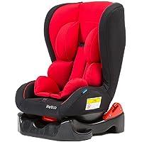 【新生児~4歳頃までのチャイルドシート 車内ゆったりコンパクトサイズ neb:o】(欧州安全基準 ECE-R44認定) ワイドな座面 ふかふかクッション 安心リクライニング機能 軽量5.3kg 洗濯機で洗えるカバー 体重:~18kg (レッド色)
