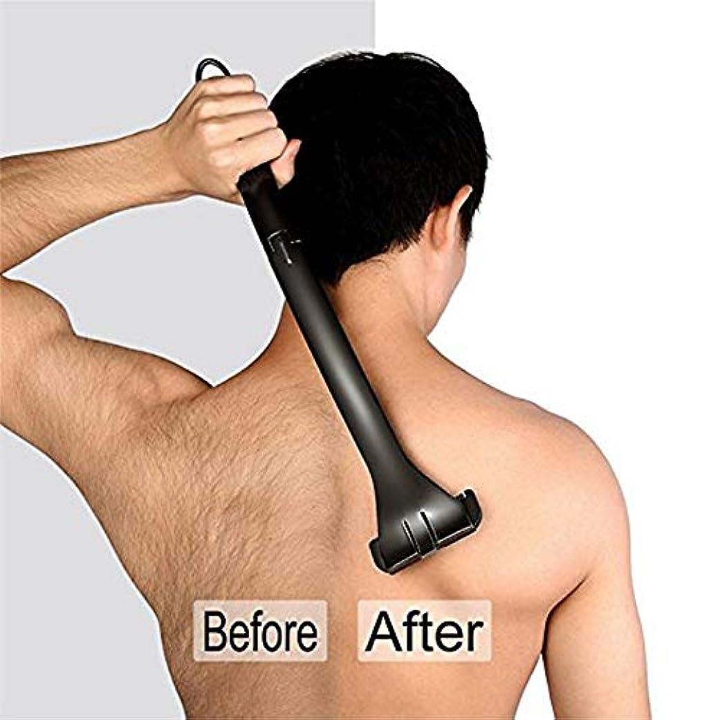 流用するなに真実後身頃脱毛ボディトリマー男性痛みフリーのための防水、男性マニュアルボディシェーバー、男性折り畳み式バックの髪シェーバー