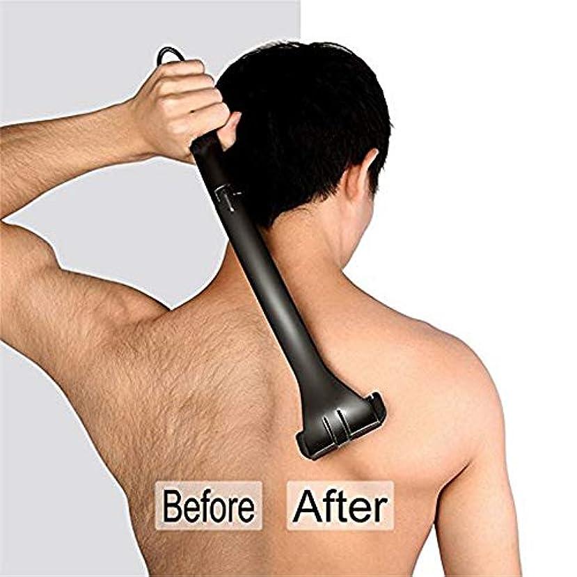 喪アラスカうれしい後身頃脱毛ボディトリマー男性痛みフリーのための防水、男性マニュアルボディシェーバー、男性折り畳み式バックの髪シェーバー