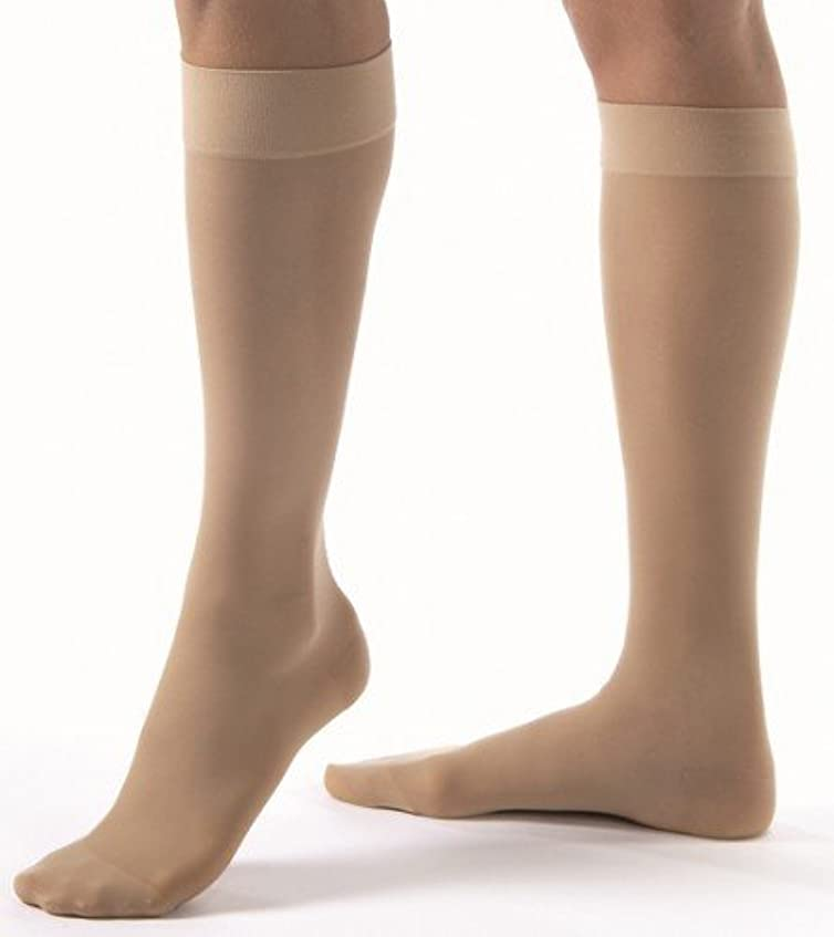 パパ無数の製造業BSN Medical/Jobst BSNメディカル121467 Jobstがウルトラシアー圧迫ストッキング、高い膝、30~40 mmHgのつま先、大、自然