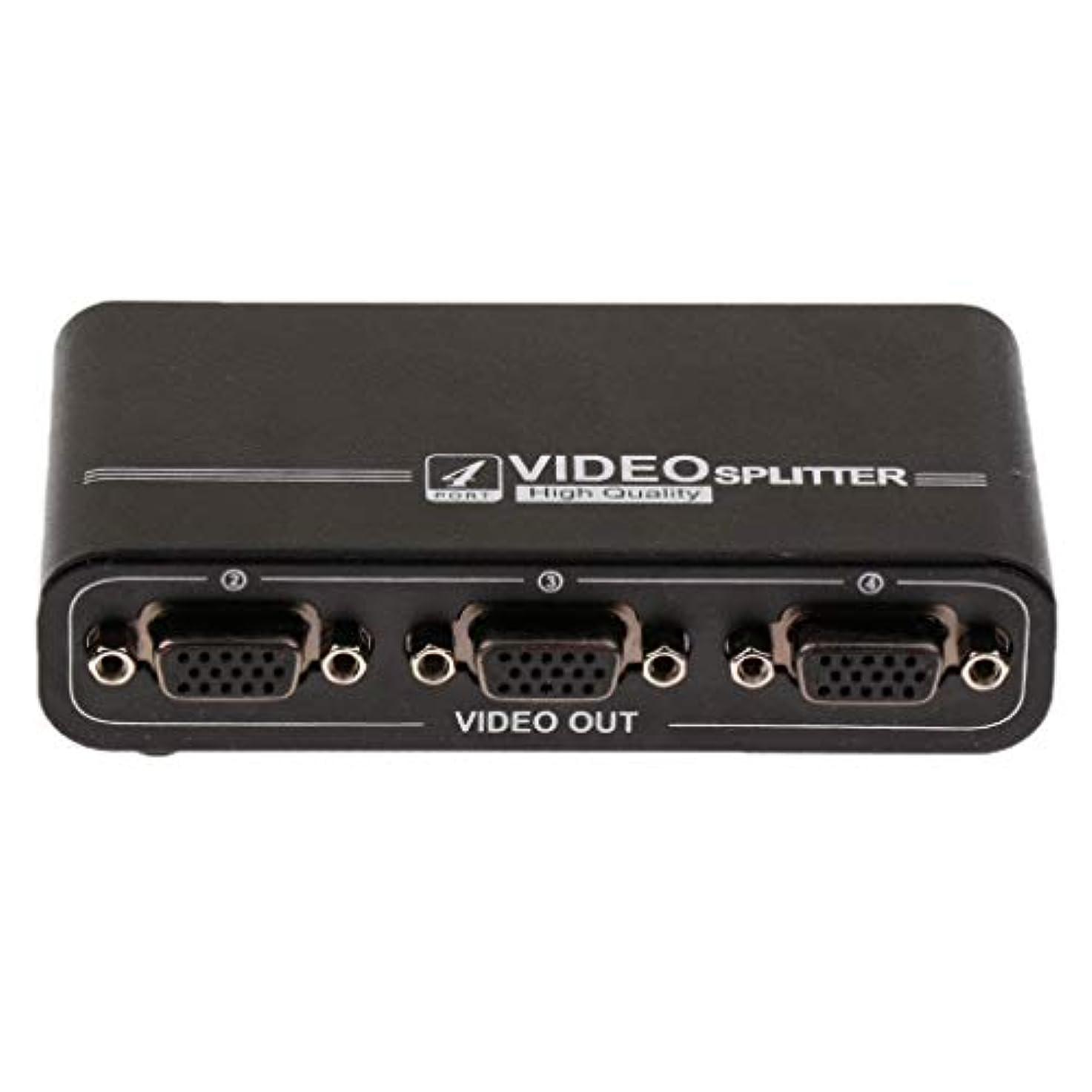 ピグマリオンコットンルアーP Prettyia 多機能 実用的 VGA スプリッター 4ポート サポート1920x1440 550MHz帯域幅 画面の複製用
