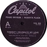 "UK 7 Tonight I Celebrate My Love - Peabo Bryson / Roberta Flack 7"" 45"