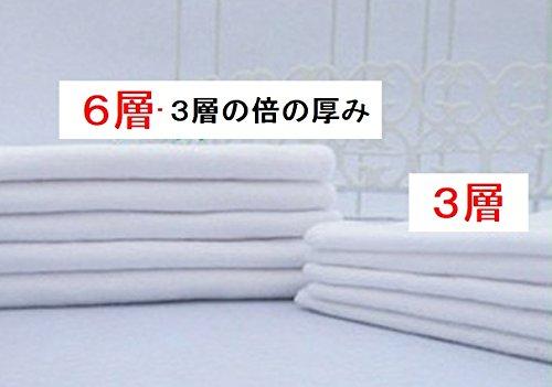 Baby Ann 布おむつ 【6層 しっかり吸水】 成形 10枚セット コットン100% (白)