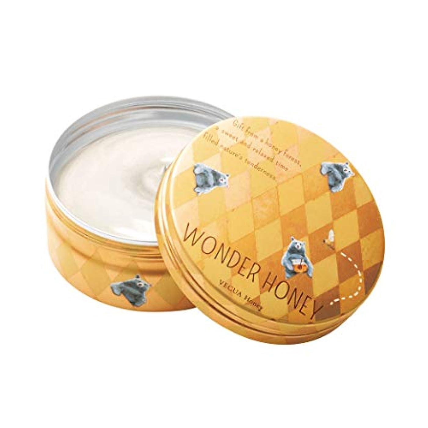 横風邪をひくブレスベキュア ハニー(VECUA Honey) ワンダーハニー 濃蜜マルシェのクリームバーム アーガイル 75g