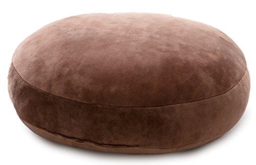 mofua ( モフア ) クッション うっとりなめらかパフ 直径38cm ブラウン 55856I06
