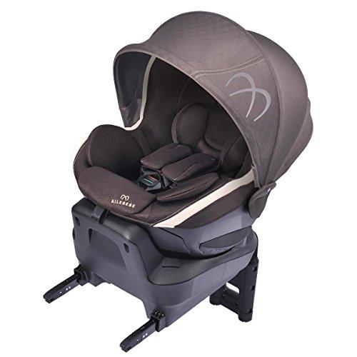 カーメイト エールベベ クルット3i プレミアム2 新生児から4歳用チャイルドシート ISOFIX取付(360度 サイレントターン/らくのせフラットシート/ワイドサンシェード) マロンブラウン BF8414