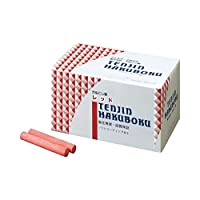 (まとめ) 日本白墨 天神印チョーク(石膏カルシウム製) 赤 CH-2 1箱(100本) 【×4セット】 ds-1570349