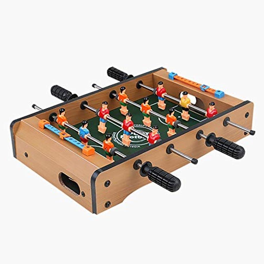 方言件名スピーチサッカーゲームサッカーテーブルウッドファイバーボードabsプラスチック健康と非毒性ステンレス鋼クラブ簡単に変形しない耐久性のあるギフト用子供 (Color : WOOD COLOR, Size : 68*40*21CM)