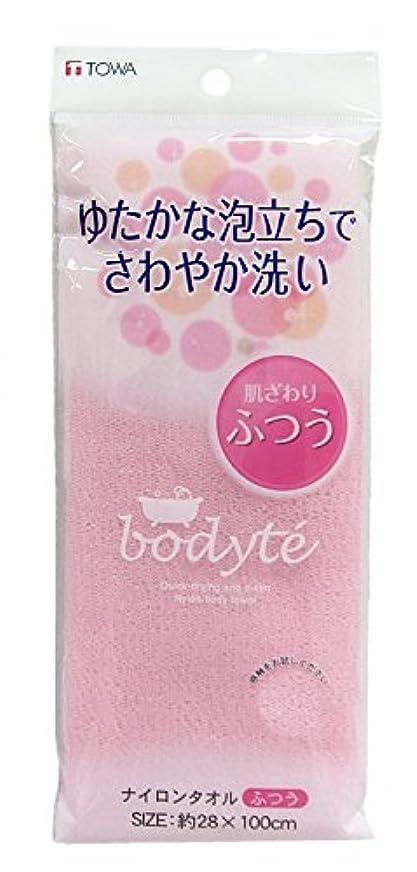 膜世代ホールBO ナイロンタオル ふつう (縦28×横100cm) ピンク