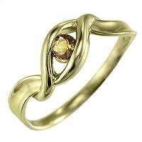 [スカイベル] (黄水晶)シトリン 18kイエローゴールド リング 一粒石 レディース リングサイズ 14.5号