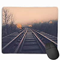 マウスパッド、ステッチエッジ付きマウスパッド、鉄道道路滑り止めラバーベースコンピューター用マウスパッド