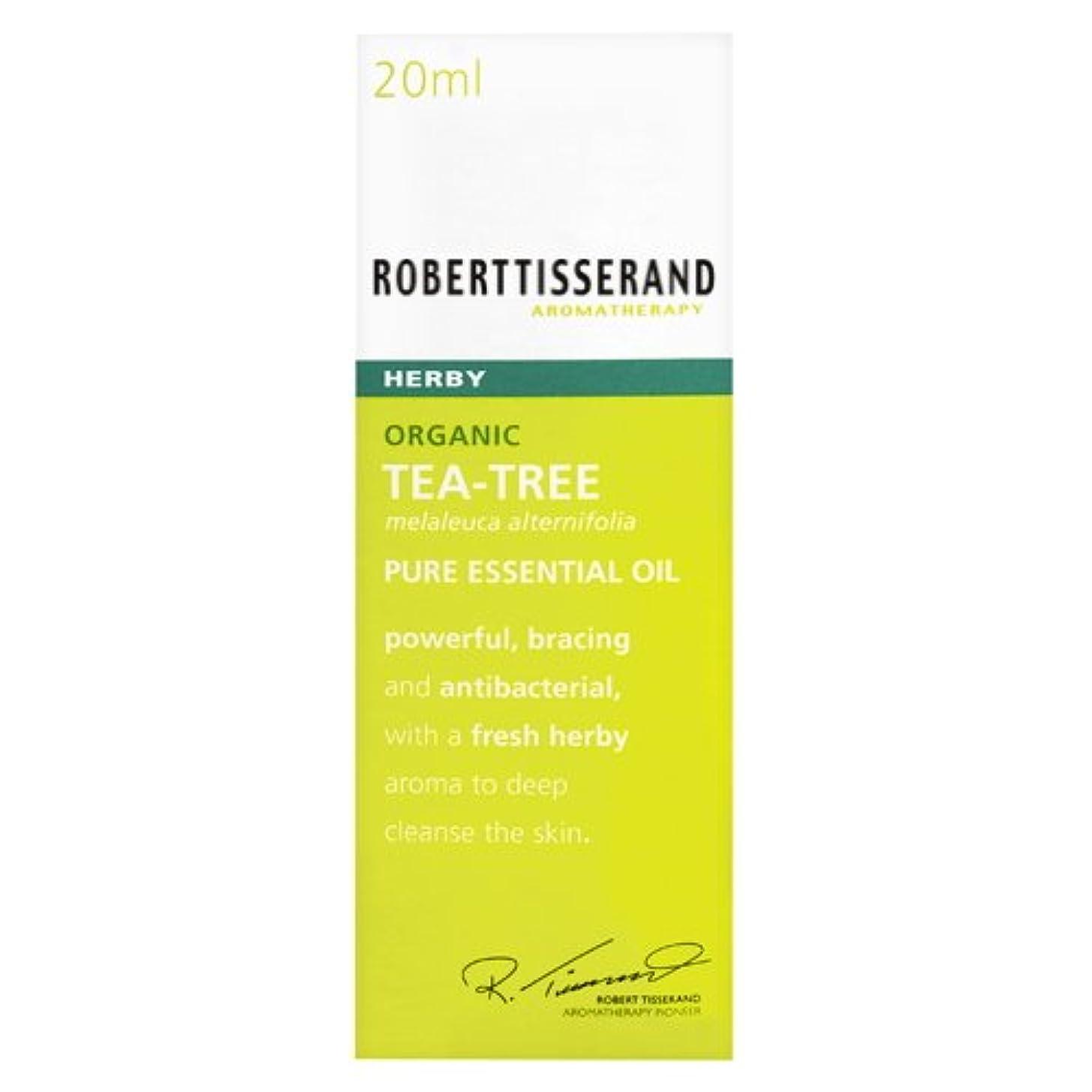 包帯包帯失われたロバートティスランド 英国土壌協会認証 オーガニック ティーツリー(ティートリー) 20ml