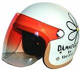ダムトラックス(DAMMTRAX) バイクヘルメット ジェット フラワー P WH レディースサイズ(57CM~58CM)