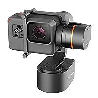 hohem 3軸ウェアラブルジンバルStablizer forカメラアクションカメラGoPro Hero 5、Hero 4、セッション、Yi 4K、AEE、SJCAMなど。ip67防水、Autorotation、2つ軸無制限回転、Bluetooth制御(ブラック)
