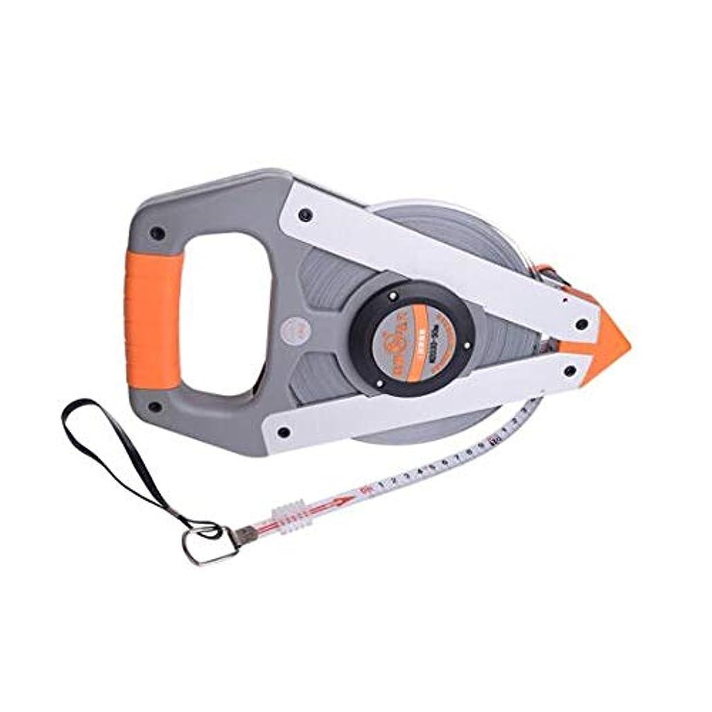 パッド侵入する暖かさTMYQM テープメジャー、エンジニアリングテープメジャー50メートル、ナイロンフィルム防水、錆びないスチールコイル、3回の振動速度 測定ツール (Color : Gray, Size : 50M)