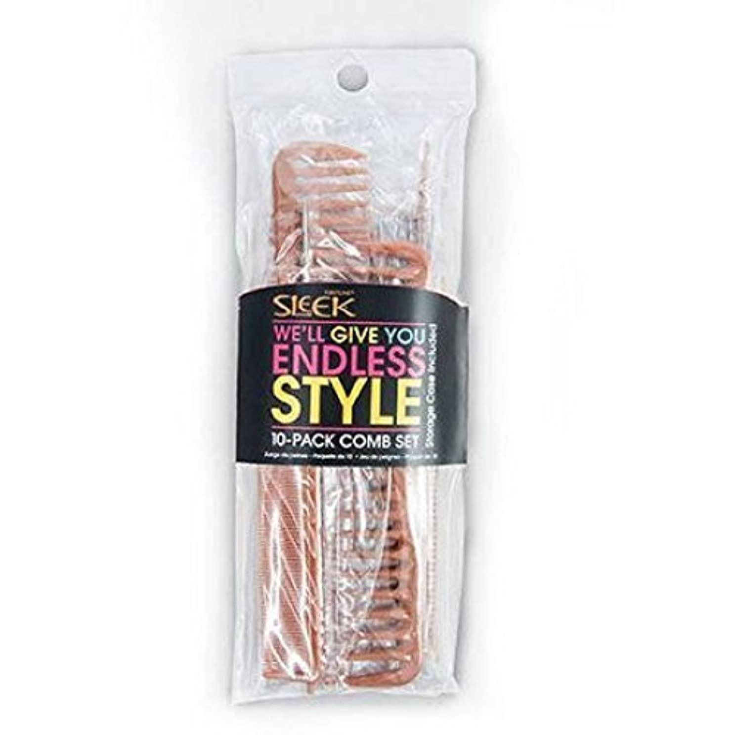 研究所賠償皮肉Sleek Bone Comb Set, 10 count [並行輸入品]