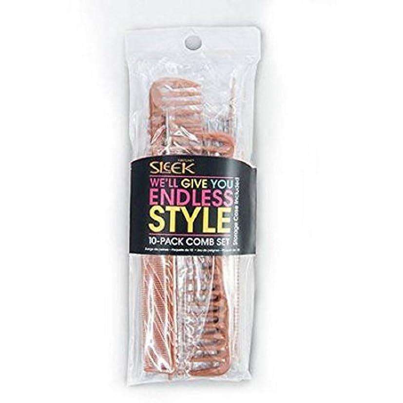 贈り物スクラブストライプSleek Bone Comb Set, 10 count [並行輸入品]