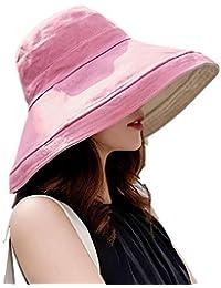 Hisitosa UVカット帽子 レディース 紫外線対策 デュアル 両面に使用 ハット 熱中症予防 つば広 ワイヤーを加える 取り外すあご紐 サイズ調節可 ぼうし夏季 日よけ 女優帽 大きいサイズ おしゃれ 可愛い 折りたたみ...