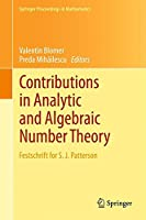 Contributions in Analytic and Algebraic Number Theory: Festschrift for S. J. Patterson (Springer Proceedings in Mathematics)