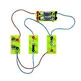 OSOYOO電気回路実験キット 直列回路 並列回路 電気 電力 知育 学習玩具 おもちゃ 科学教育機器 小学校 中学校 理科 科学 サイエンス実験 実験からわかる電気回路 (電気回路実験キット)