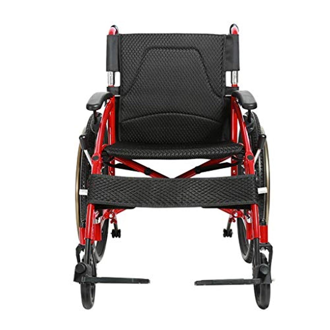 浸食スリム示す車椅子折りたたみ超軽量アルミニウム合金、高齢者向け車椅子、多目的トロリー