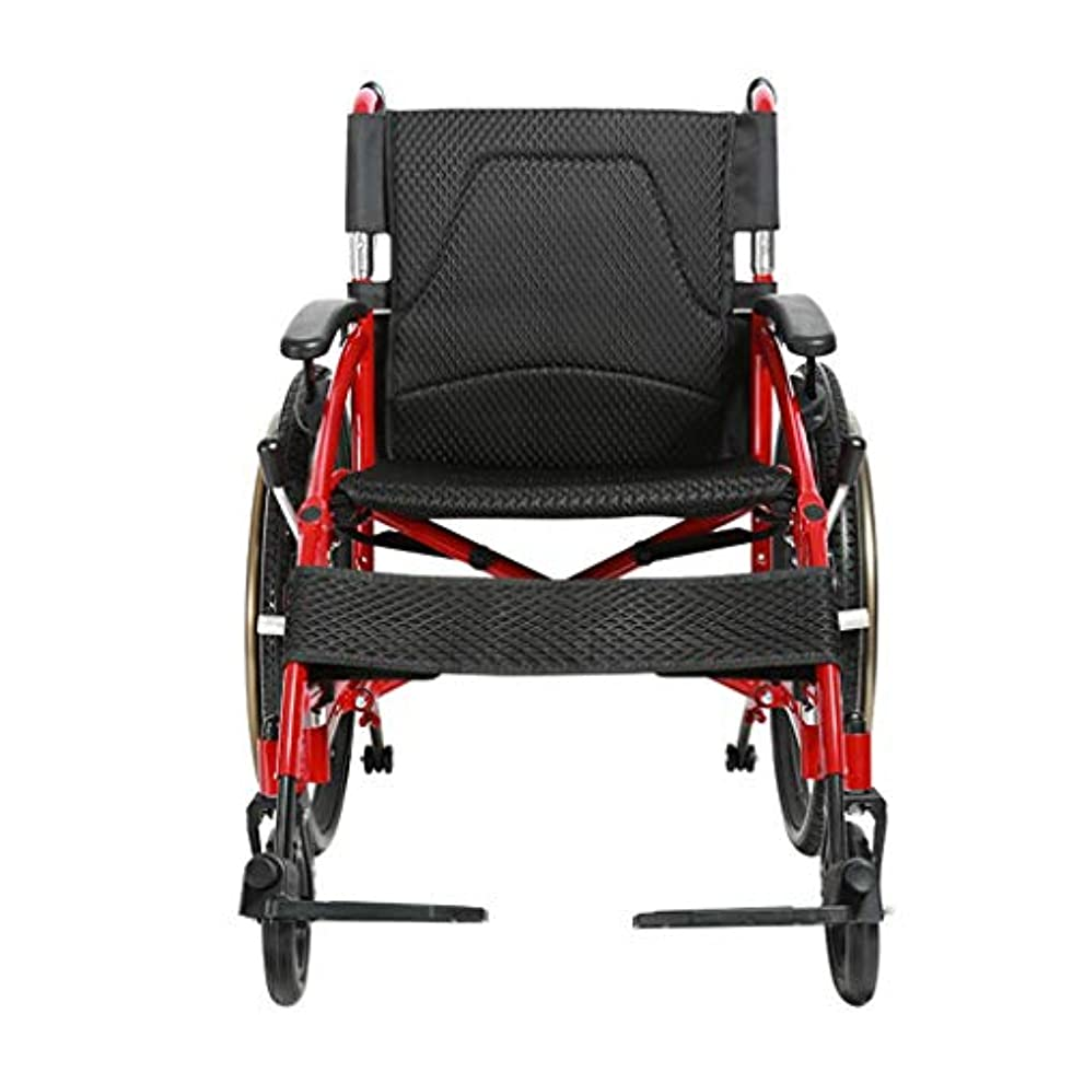 廃棄キャンペーン観察手押し式車椅子、折りたたみ式、手回し式プッシュ式歩行装置、大人および身体障害者用アルミニウム製トラベルスクーターに適しています