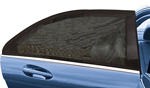 MYTK 車用網戸 車窓サンシェード 車窓サンシェード カーウインドーネット キャンプに 車中泊に 仮眠に 虫の侵入を防いで 風を通す メッシュ・カバータイプ車窓日除け 赤ちゃんのお肌を守る 日よけ虫よけウインドーネット