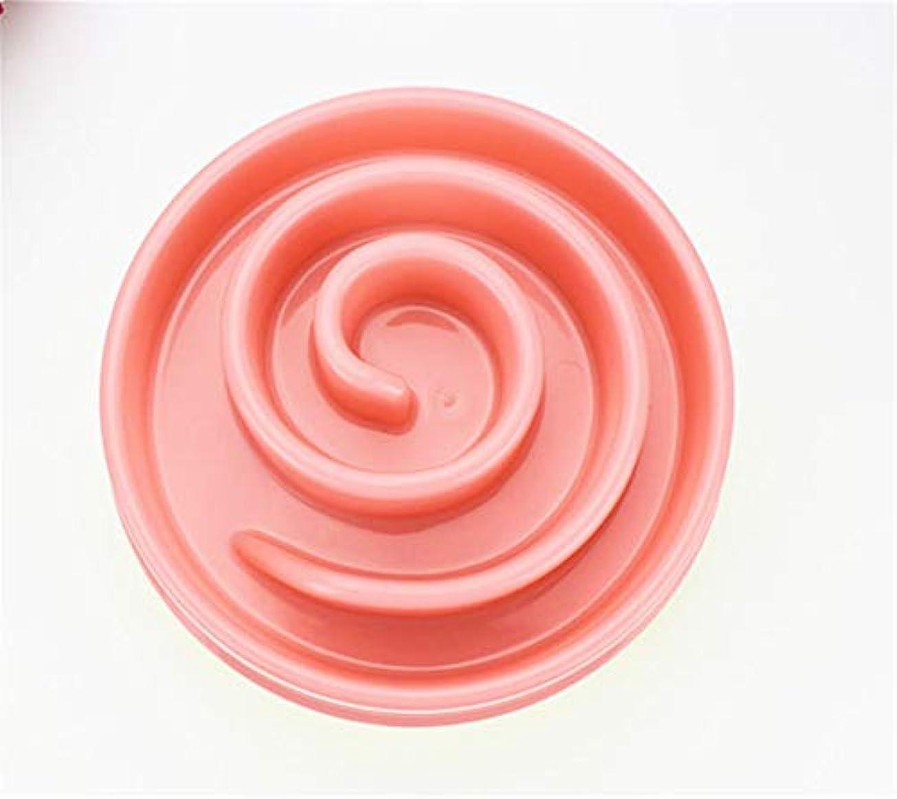 ペットボウルプラスチックボウルダイエット防止食器楽しいカタツムリ形状スリップ健康耐久性