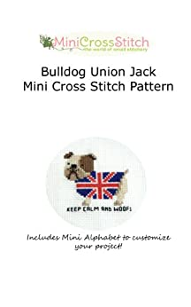 Bulldog Union Jack Mini Cross Stitch Pattern by [Stitch, Pinoy]