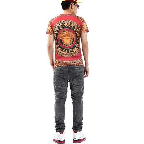 (ピゾフ)Pizoff メンズ Tシャツ スリム 半袖 ユニセックス モード系 ストリートファッション ヒップホップスタイル (L Y0307 1)