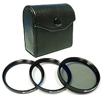 Maximal電源46mmレンズフィルタキットIncludes Circular Polarizer、UVとスターレンズフィルタキットfor 46mmカメラレンズ(ブラック)