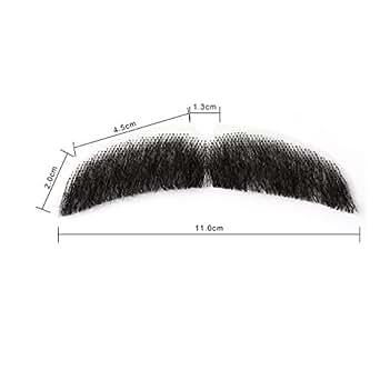 Neitsi(ネイティス) 付け髭 ひげ 口髭 人毛 ウィッグ 髪製髭 手作り本物 コスプレ用ダンス用髭 1枚