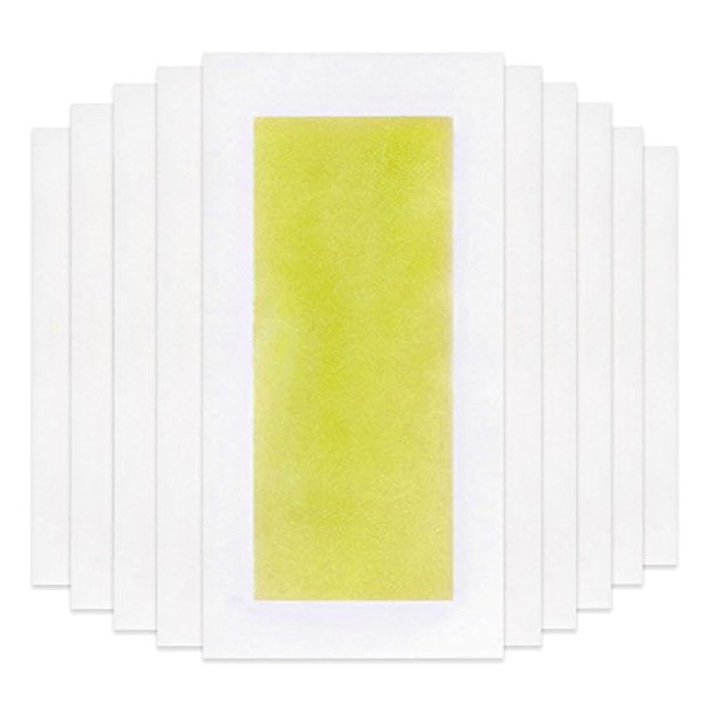 送ったブース興奮するRabugoo 脚の身体の顔のための10個のプロフェッショナルな夏の脱毛ダブルサイドコールドワックスストリップ紙 Yellow