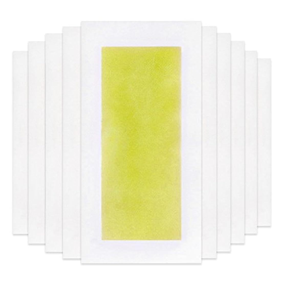 学部クリスチャン信頼できるRabugoo 脚の身体の顔のための10個のプロフェッショナルな夏の脱毛ダブルサイドコールドワックスストリップ紙 Yellow