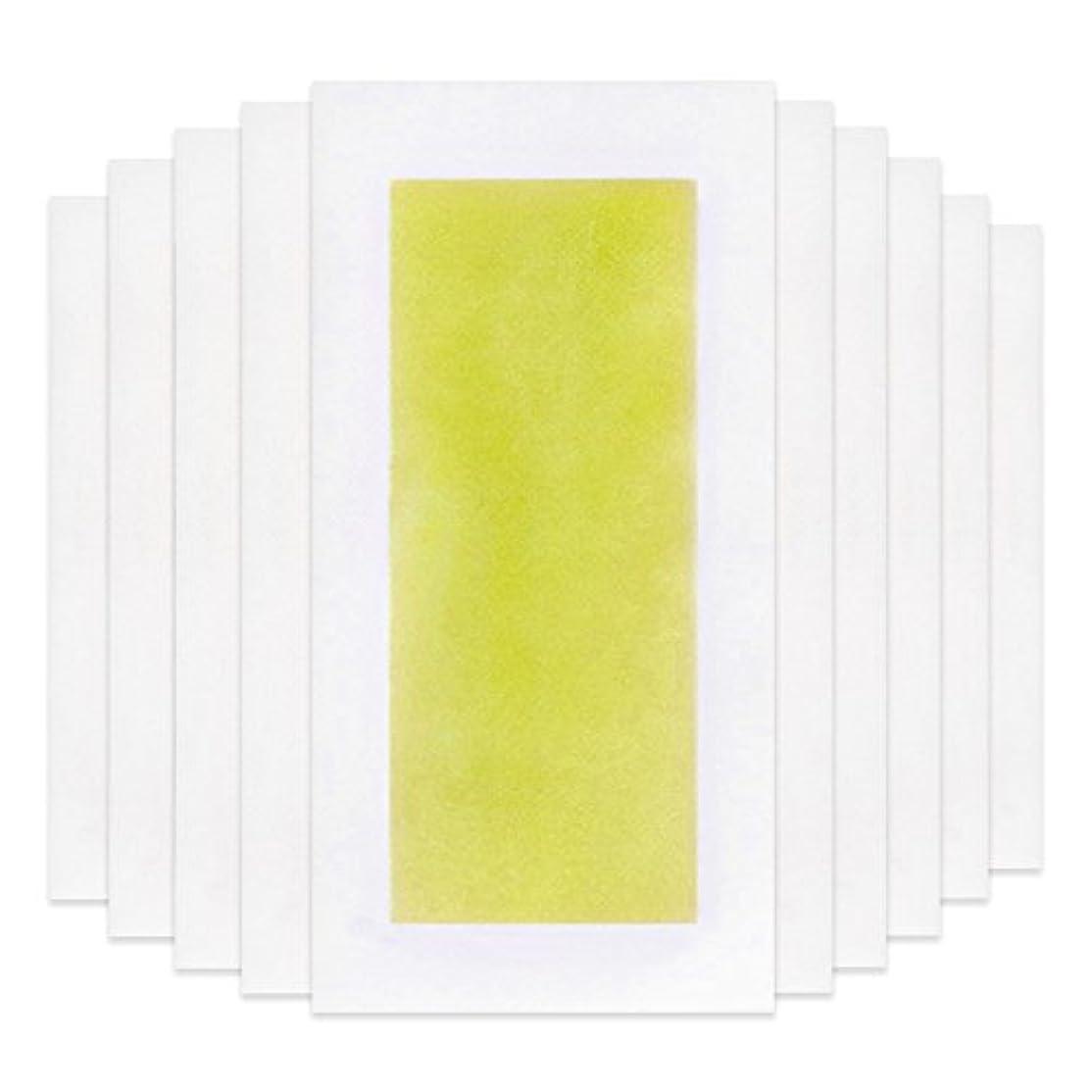 信頼性淡い活気づくRabugoo 脚の身体の顔のための10個のプロフェッショナルな夏の脱毛ダブルサイドコールドワックスストリップ紙 Yellow